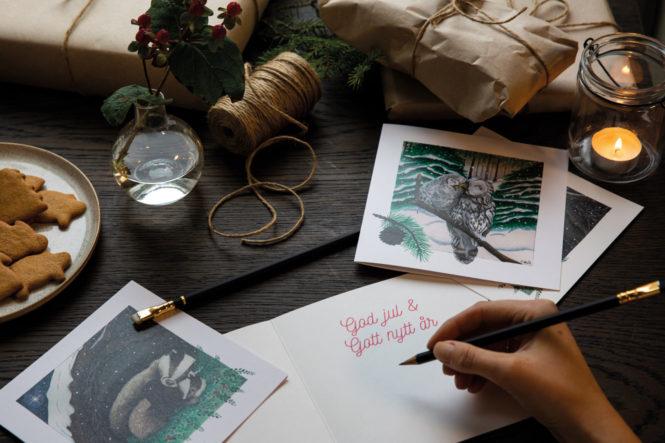 Julkort - vitjul