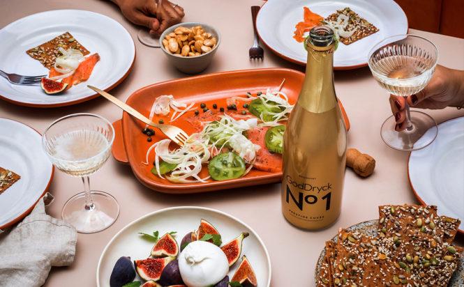 GodDryck No1 Prestige Cuvée alkoholfritt bubbel Vit jul