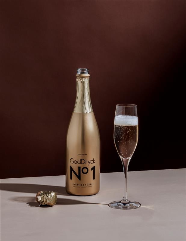 GodDryck No 1 Prestige Cuvée alkoholfritt bubbel Vit jul